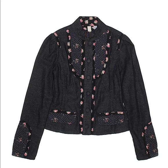 Ted Baker Jackets & Blazers - Ted Baker Jean black floral polka dot jacket sz1/4